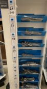 Contents to one side of an 8 shelf display - 207 pieces of Amefa Jewel cutlery - including knives,