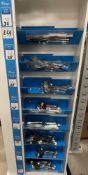 Contents to one side of an 8 shelf display - 224 pieces of Amefa Kings cutlery - including knives,