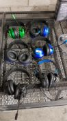 6 ITEMS – MIXED STEREO GAMING HEADSETS T