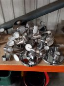 APPROX 13 X MIXED CHROME CEILING LIGHTS