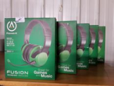 5 X POWER A FUSION WIRED GAMING HEADSET
