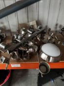APPROX 17 X MIXED BRUSH NICKEL CEILING L