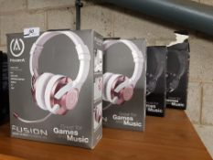 4 X POWER A FUSION WIRED GAMING HEADSET