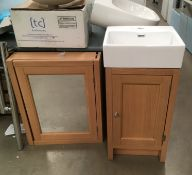Roper Rhodes vanity unit and mirror cabinet,