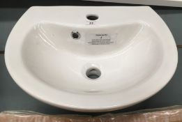 450 wall hung sink
