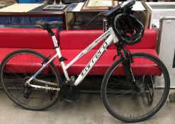 "Carrera Crossfire 1W 18"" mountain bike in white, 21 speed,"
