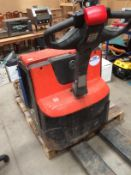 A BT LWE 20D walk behind electric pallet truck S/N 6143580, YOM 2011,