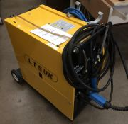 An LTS UK MIG-200 como mobile mig welding machine - 240v (commercial plug) complete with manual