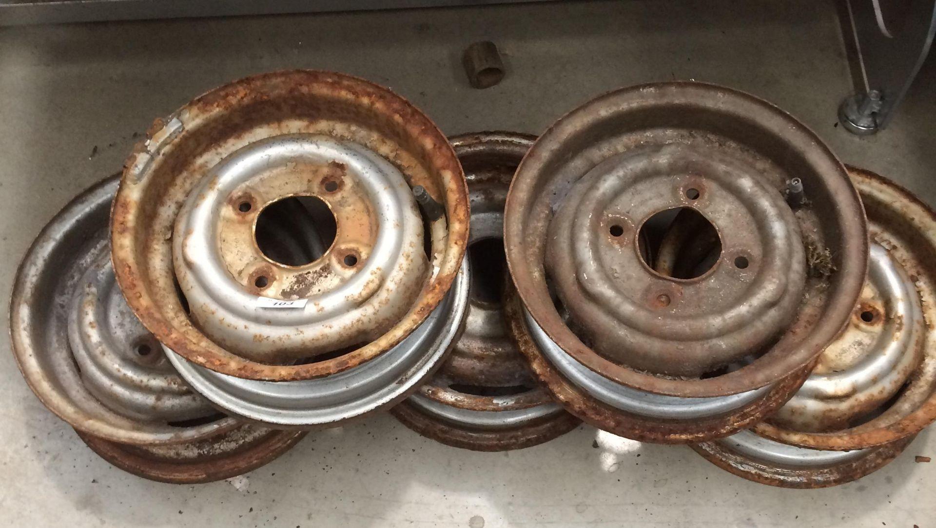 "Set of 5 10"" Mini wheels"