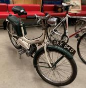 A RALEIGH RUNABOUT MODEL RM6 MOPED - Petrol - Green/White.