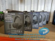 6 X VENOM NIGHTHAWK STEREO GAMING HEADSE
