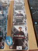 3 X MISSION IMPOSSIBLE 8 MOVIE COLLECTIO