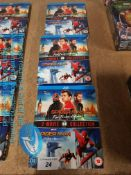 3 X SPIDERMAN 2 MOVIE BLU RAY COLLECTION