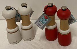4 x Tala salt and pepper grinders RRP £2