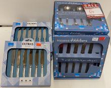 11 x assorted Amefa 6 piece spoon and kn