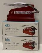 3 x Kilo potato chippers RRP £29.99 each