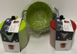 5 x assorted items - Zeal salad spinners