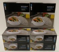 6 x Chef Aid microwave steamers