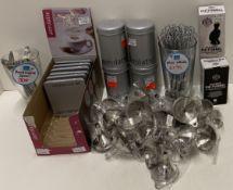 Quantity of assorted items - mini funnel