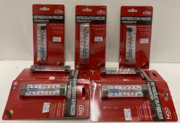 9 x CDN Refrigerator/Freezer Thermometer