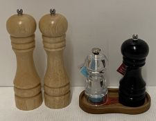 6 x assorted salt and pepper grinders