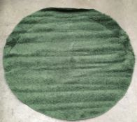 A Carpet City shaggy green rug - 160cm x 160cm