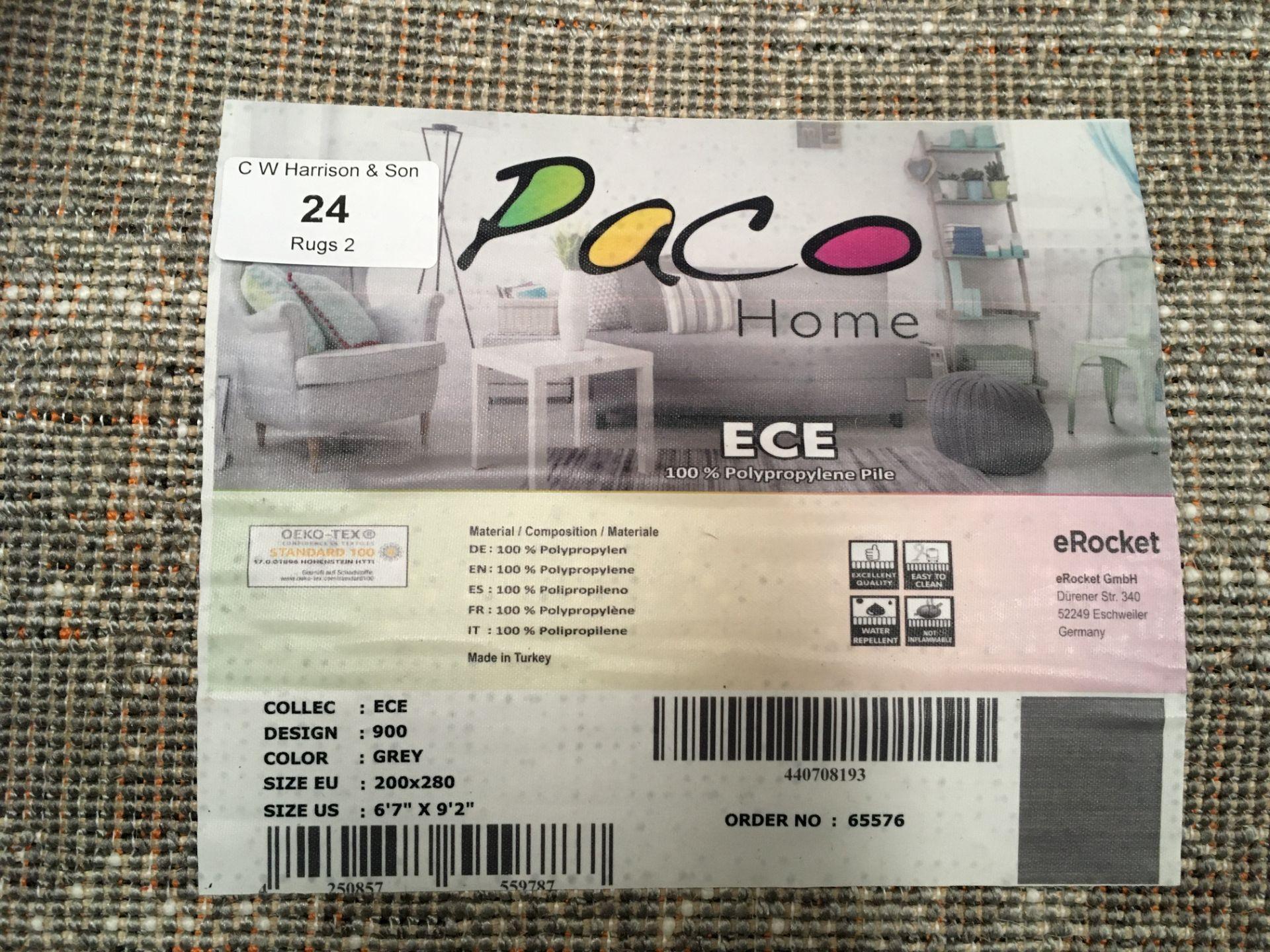 Lot 24 - A Paco Home ECE 900 grey rug - 200cm x 280cm