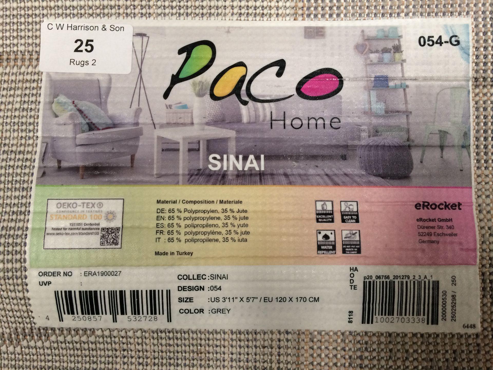 Lot 25 - A Paco Home Sinai 054 grey rug - 120cm x 170cm