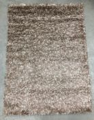 A Vista shaggy 3547A light and dark beige rug - 120cm x 170cm