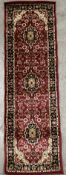 A Barclay Collection Medallion Kashan red rug - 67cm x 220cm