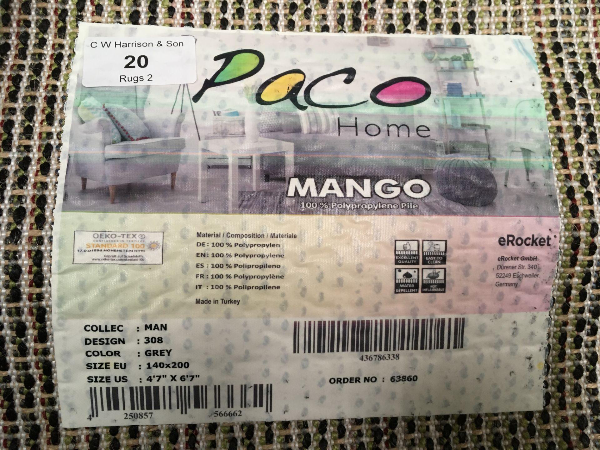 Lot 20 - A Paco Home Mango 308 grey rug - 140cm x 200cm