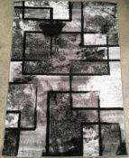 A Paco Home Mondial 101 grey rug - 120cm x 170cm