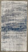 A Louis De Poortere Mad Men Collection Bronx Azurite antislip rug - 80cm x 150cm