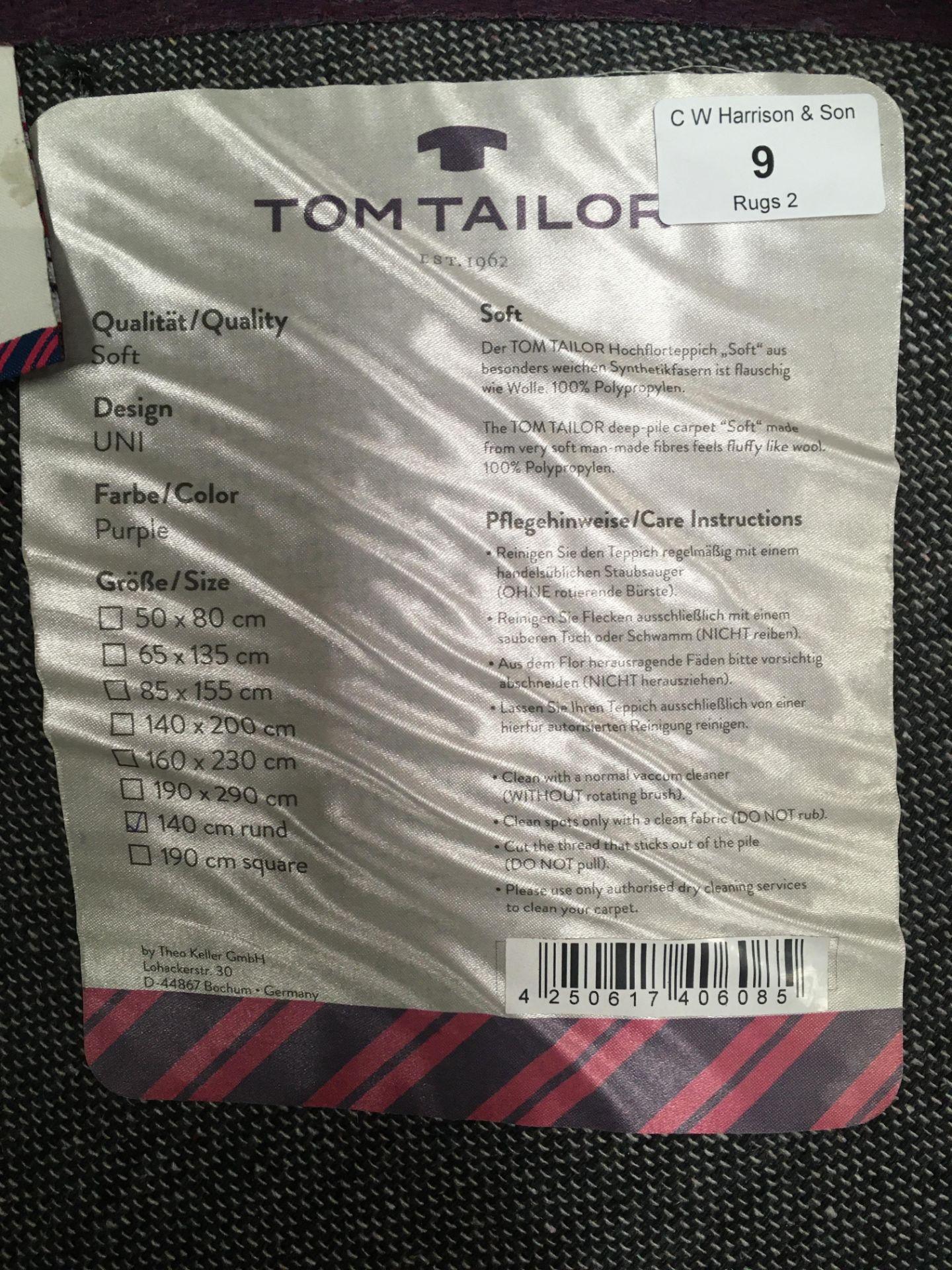 Lot 9 - A Tom Tailor Uni purple rug - 140cm round