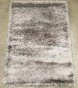 A Paco Home Glamour 300 grey rug - 120cm x 170cm