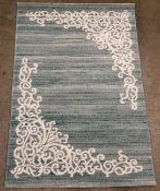 A Paco Home Tivago TIV2019 turquoise rug - 120cm x 170cm