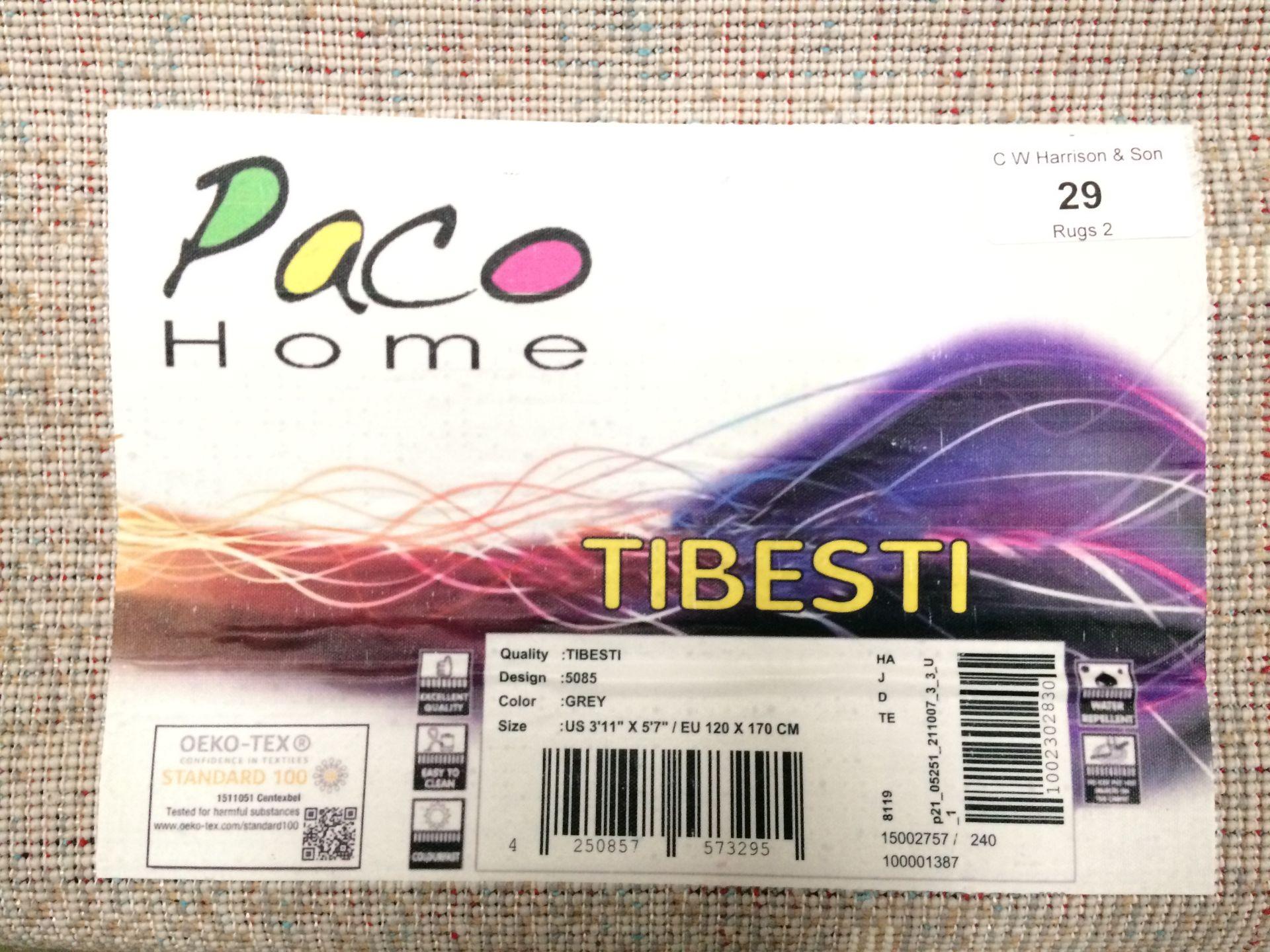Lot 29 - A Paco Home Tibesti 5085 grey rug - 120cm x 170cm
