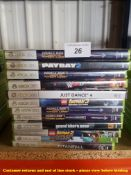 12 X MIXED XBOX 360 GAMES (ALL SEALED / AS NEW) TO INC GRAND THEFT AUTO 5, MINECRAFT, TITANFALL,