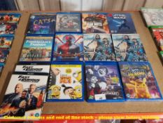 13 X MIXED BLU-RAY MOVIES TO INC SPIDERMAN FAR FROM HOME, DETECTIVE PIKACHU,