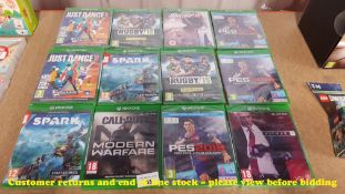 12 X MIXED XBOX ONE GAMES (ALL SEALED / AS NEW) TO INC HITMAN 2, PES 2018,