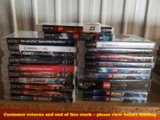 21 X MIXED PS3 GAMES (17 X SEALED / AS NEW) TO INC THE LAST OF US, LEGO STAR WARS, MINECRAFT,