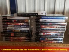 20 X MIXED PS3 GAMES (20 X SEALED / AS NEW) TO INC THE LAST OF US, DIABLO,