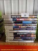 12 X MIXED XBOX 360 GAMES (ALL SEALED / AS NEW) TO INC SNIPER ELITE 3, GRAND THEFT AUTO 5, PAYDAY 2,