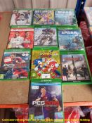 10 X MIXED XBOX ONE GAMES TO INC SONIC MANIA, F1 2020, PROJECT SHARK,