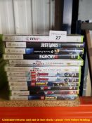 12 X MIXED XBOX 360 GAMES (8 X SEALED / AS NEW) TO INC FAR CRY 4, FIFA 17, MINECRAFT,