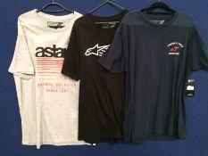 3 x assorted Alpinestars t-shirts - size XL RRP £24 each
