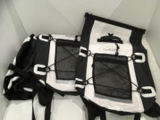 3 x Lextek black/white waterproof backpacks