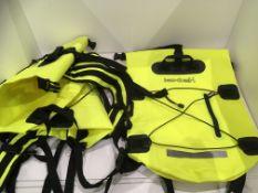 3 x Lextek yellow backpacks