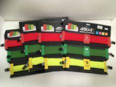4 x Aquad three waterproof packing cubes - 12L, 7L,