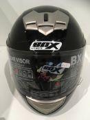 Box BX-1 motorbike helmet in black gloss - size XL (62cm)